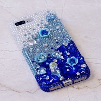 Pearls with Deep Blue Design (style 729)