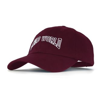Cold World Unstructured 6-Panel Burgundy