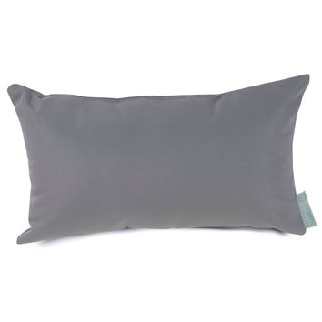 Gray Solid Small Pillow