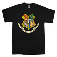 hogwarts coat of arms For T-shirt Unisex Adults size S-2XL Black and White