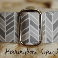 """Herringbone"" in Grey from CollarMyHeart"