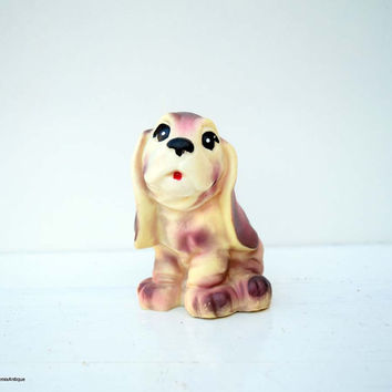 Vintage Soviet Era Rubber Squeaky Toy Dog