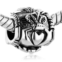 Pugster Irish Claddagh Friendship and Love Bead- Fit Pandora Charm & Bracelet