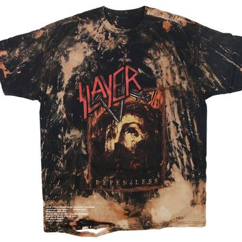 Slayer Vintage Distressed Band Tee