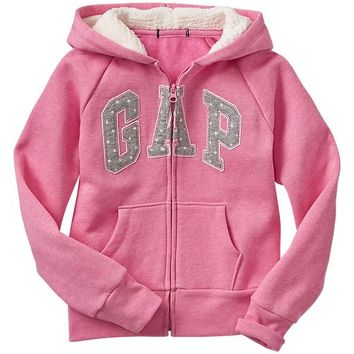 Gap Girls Factory Star Arch Logo Zip Hoodie