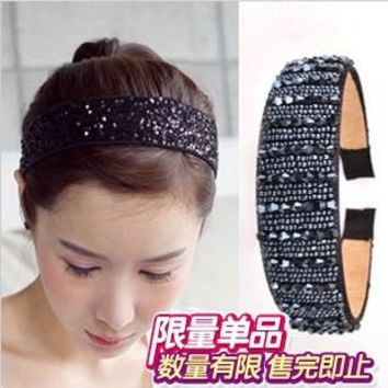 TS123 fashion noble wide beads hair bands hair clip hair jewelry headband