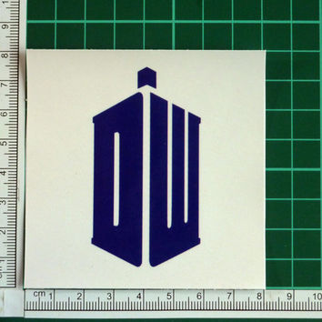 Dr Who DW Sticker Decal Tardis Dalek Doctor Who