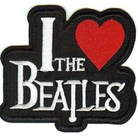 The Beatles Iron-On Patch I Love Heart Logo