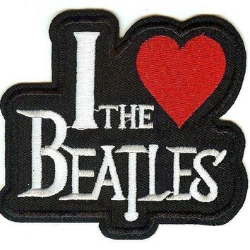 The Beatles Iron-On Patch I Heart Logo