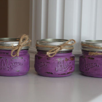 Shabby Chic Purple Candles, Purple Wedding Decor, Purple Centerpiece, Purple Candles, Scented Candles, rustic wedding decor, Wedding Favors