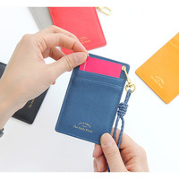 Gunmangzeung Life is simple flat card holder case