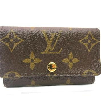 Louis Vuitton Monogram Key Case 6 Brown M62630 8641