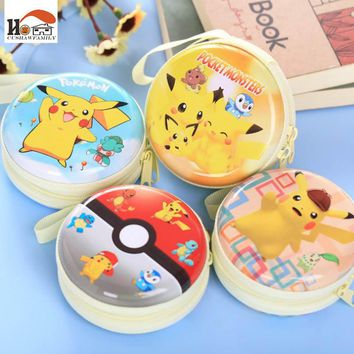 CUSHAWFAMILY cartoon circular Earphone Wire Organizer tin Box Data Line Cables Storage Box Case Container Organizer Coin boxs