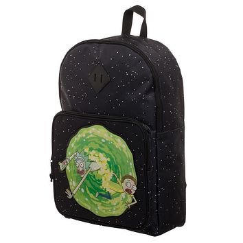 Rick and Morty Navy Blue Backpack - Rick and Morty Portal Bag