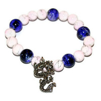 Dragon Charm Bracelet With Porcelain Beads