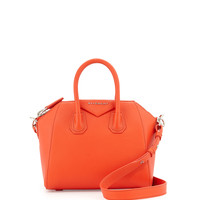 Antigona Mini Leather Satchel Bag, Burnt Orange - Givenchy