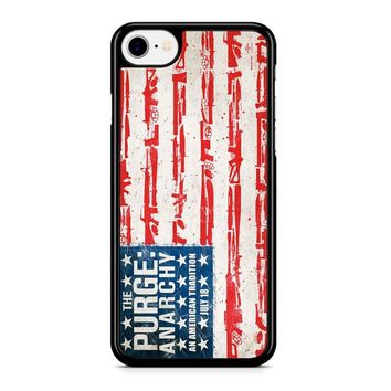 The Purge Anarchy Flag iPhone 8 Case