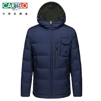 Cartelo/Brand 2017 Thick Winter Down Jacket Winter Men Warm New Casual Clothing Long Male 90% White Duck Down Coat For Male