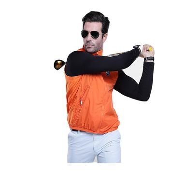 PGM Golf Sportswear Windbreaker Jacket Vest Waterproof Men Spring Vest Clothes Light Cycling Sleeveless Jacket