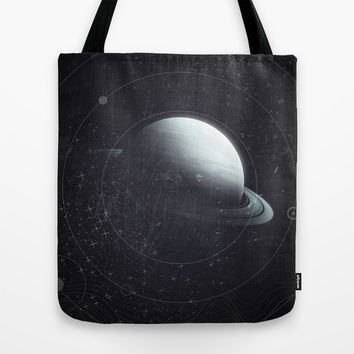 Space Sound Waves Tote Bag by DuckyB (Brandi)
