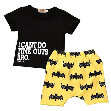 0-2Y 2PCS  Baby Boy Batman Outfit