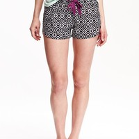 Old Navy Womens Patterned Boxers