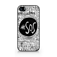 IPC-251 - Ivory Phone Case - 5SOS - 5 Seconds of Summer - iPhone 4 / 4S / 5 / 5C / 5S / Samsung Galaxy S3 / S4