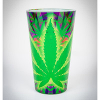 Neon Leaf Pint Glass