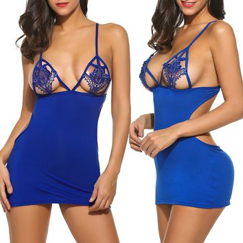 Lingerie for Women Nighties Negligees Lace Babydoll Chemise Set