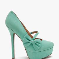 Viola 08 Side Bow Fx Suede Mary Jane Pump