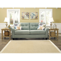Signature Design by Ashley Kylee Lagoon Contemporary Sofa and Accent Pillows | Overstock.com Shopping - The Best Deals on Sofas & Loveseats