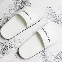 Balenciaga Sandal Slides White Flip Flops Slippers - Best Deal Online