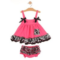 Baby Girl Outfits, Zebra Swing Top / Bloomer 2 pc Set