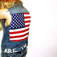 We Are The Dreamers Studded American Flag by CherryUnderground