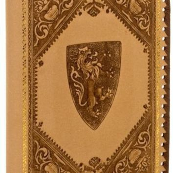 "BARNES & NOBLE | Medici Lions Kraft Recycled Italian Leather Journal (9""x7"") by Fiorentina LLC"