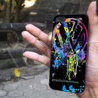 VW Emblem Splatter for iphone 4/4s, iphone 5/5s/5c, samsung s3/s4 case cover in mullticase