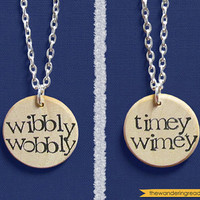 Dr. Who Wibbly Wobbly Timey Wimey DoubleSided Hand by BookishCharm
