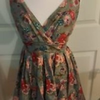 Manteau Juniors Dress size L Large floral EUC