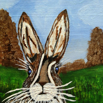 Roger the Hare with Acrylics