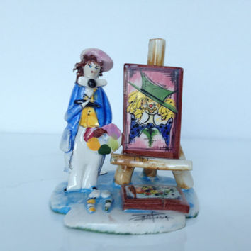 Vintage Zam Piva Signed Porcelain Painter Figurine
