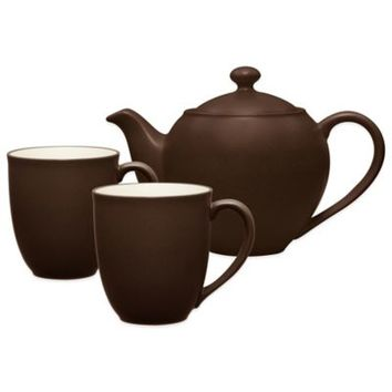 Noritake® Colorwave 3-Piece Tea-for-Two Teapot Set in Chocolate