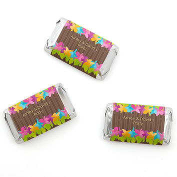 Luau - Personalized Everyday Party Mini Candy Bar Wrapper Favors - 20 ct