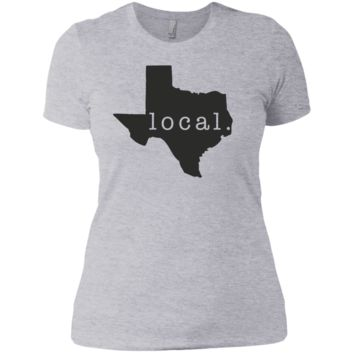 Texas Ladies T Shirt for Texan Girl or TX Woman Outline State Pride - Great Gift and Design for Womens T-Shirt or Tee