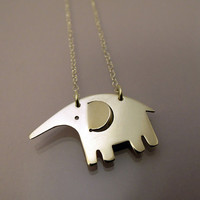 Elephant necklace / collier �léphant by hirnundherz on Etsy