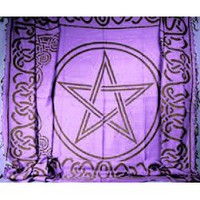 Extra Large Rectangular Celtic Pentagram Cloth - WiccanWay.com Witchcraft Supplies