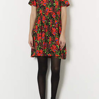 POPPY FLOWER TUNIC DRESS