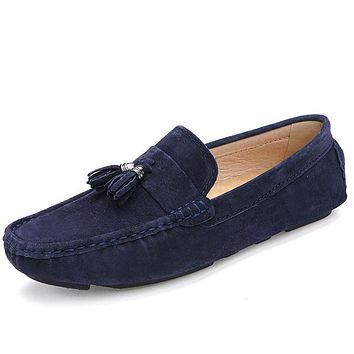 Flat Shoes Fashion Slip on Men Driving Loafers Original Brand