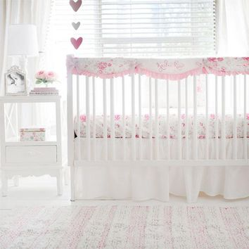 Nostalgic Rose 3 Piece Crib Baby Bedding Set