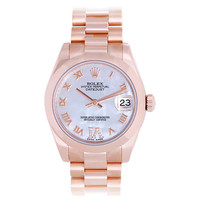 Rolex Lady's Rose Gold President Datejust Wristwatch Ref 178245