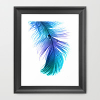 Blue Blue Electric Blue Framed Art Print by Ally Coxon